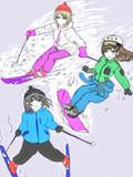 スキー場ロケの前に新田ーニャに特訓してもらう鷺沢文香さん