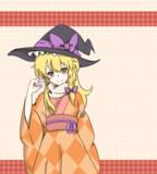 ひし形模様着物の魔理沙