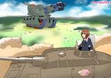 巨大戦車と対戦するあんこうチーム