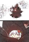 赤城の尻尾の中に入り込むことに成功した翔鶴と 加賀の尻尾の中に入り込むことに失敗した瑞鶴
